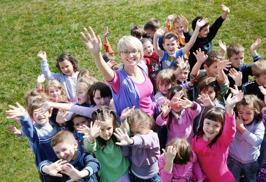 Kids enjoying outdoor classes
