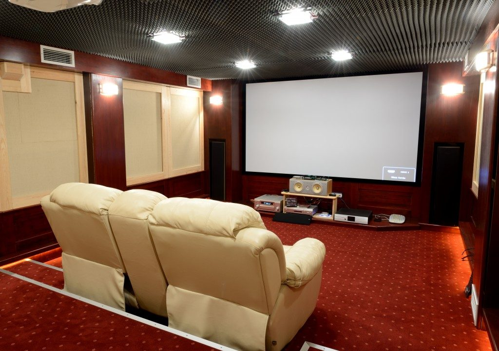 mini theater in the basement
