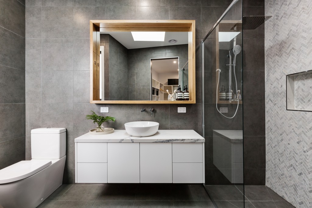 vanity area in a bathroom