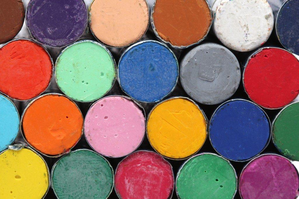 pastels crayons