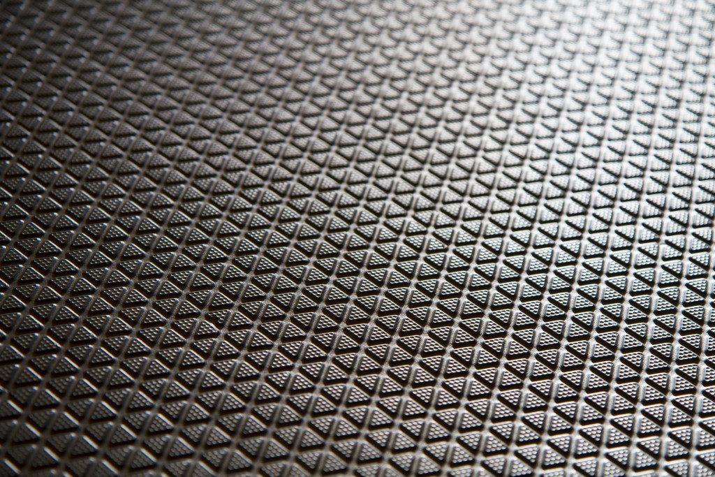 close up shot of a rubber mat
