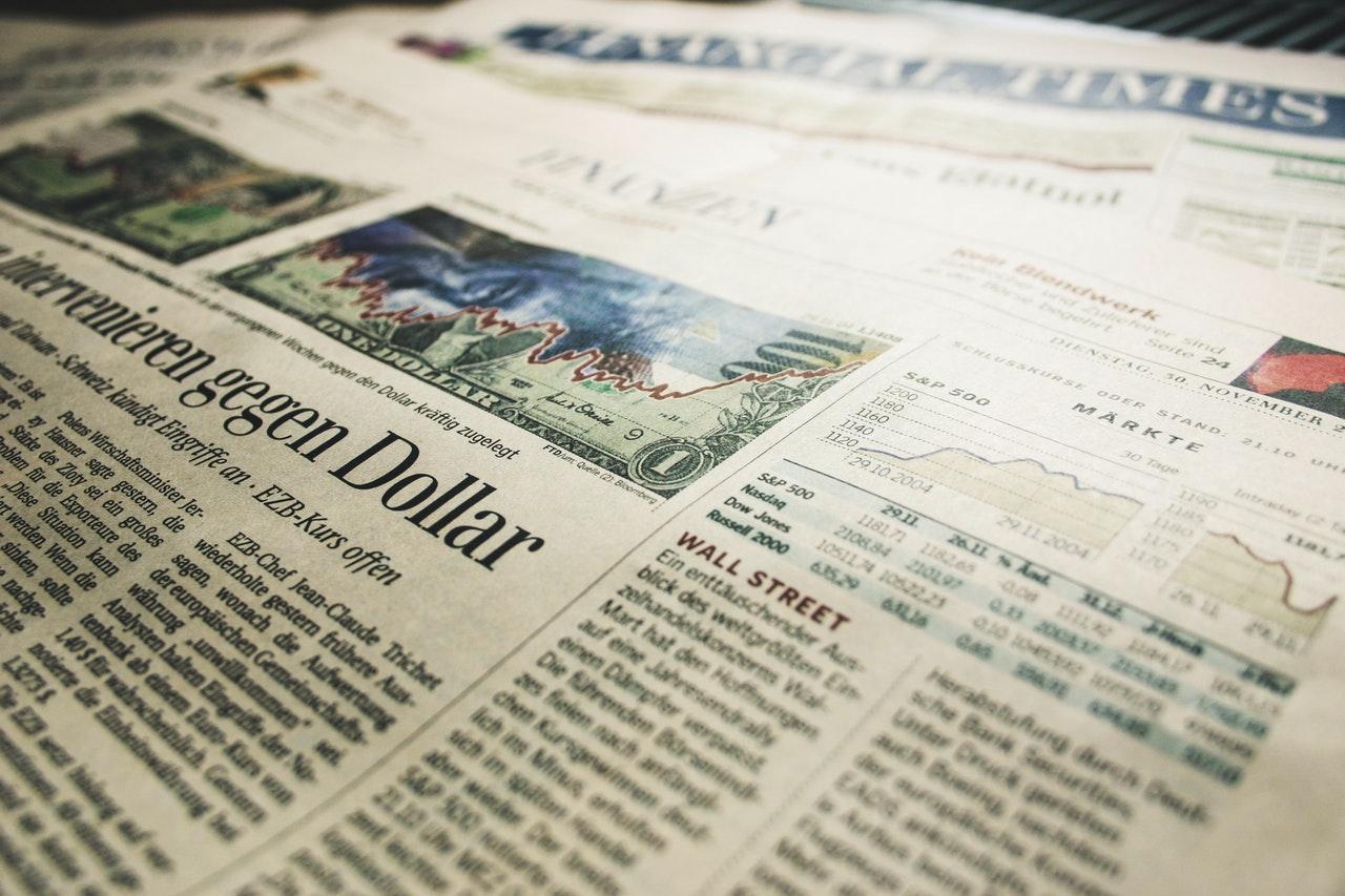 stock market statistics on a newspaper