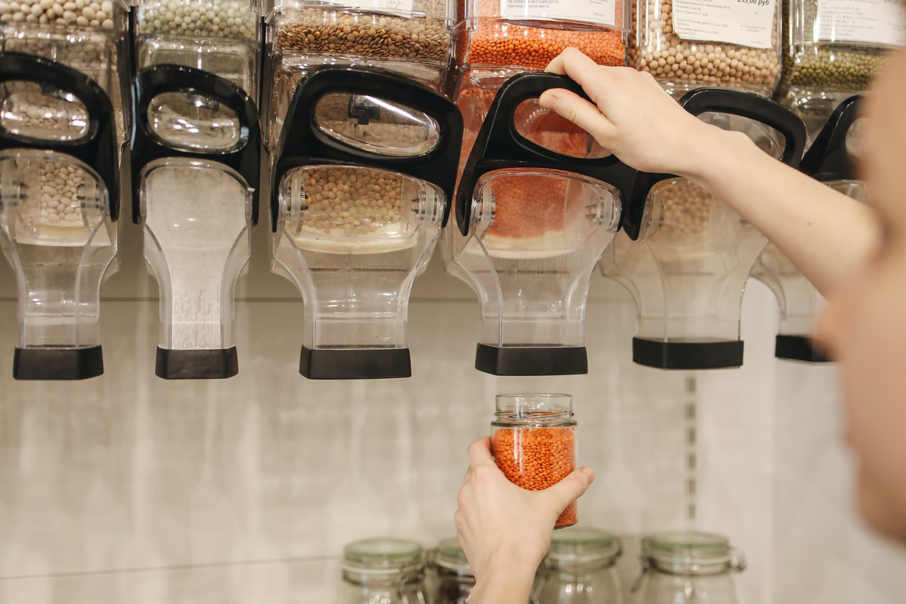eco-friendly store refilling station