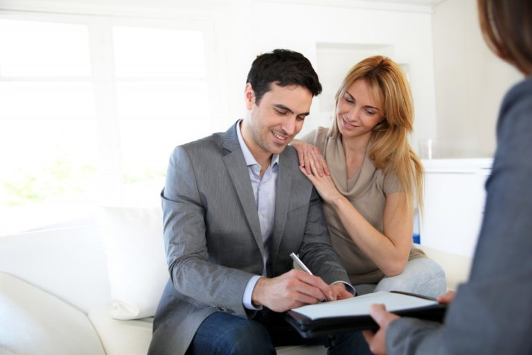 young couple investing