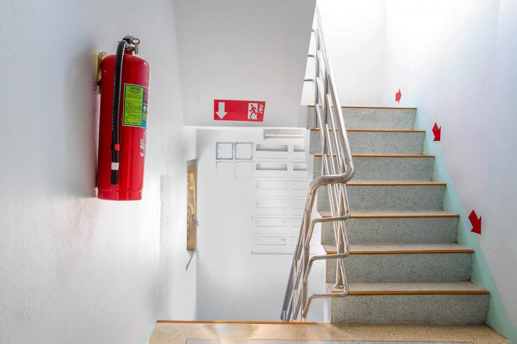 fire escape concept