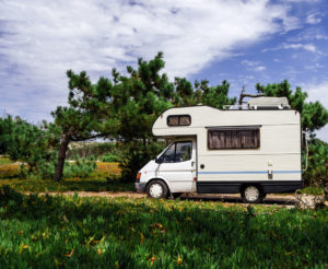 rv in a park