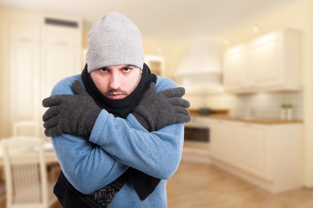 cold temperature indoors