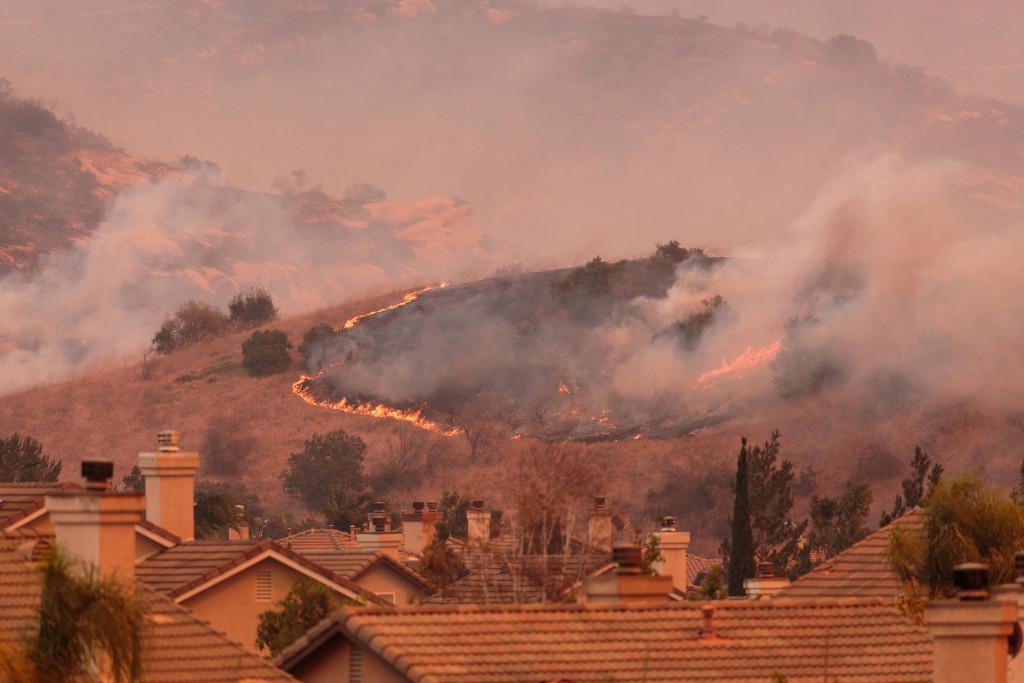 mountain wildfire