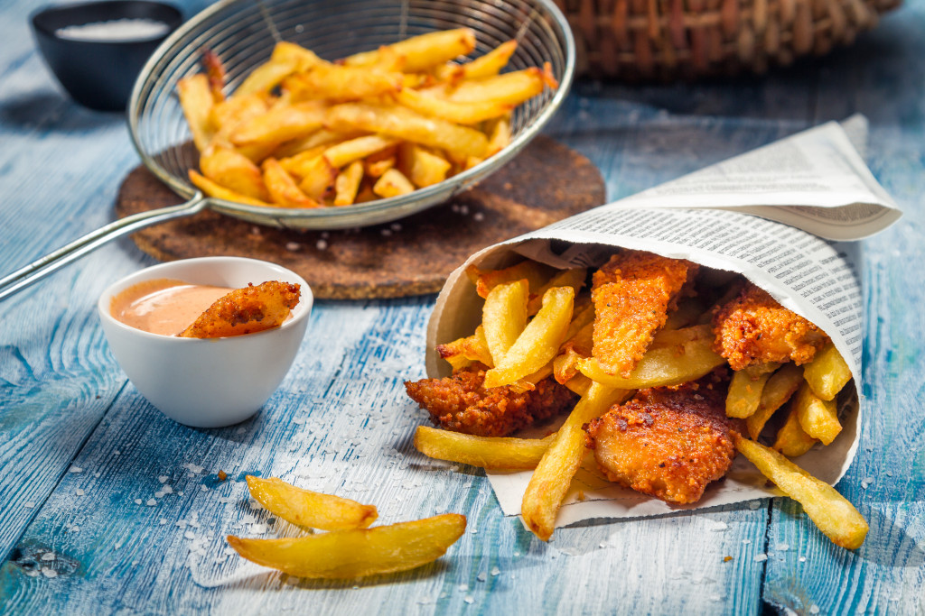 set of fried food on a table
