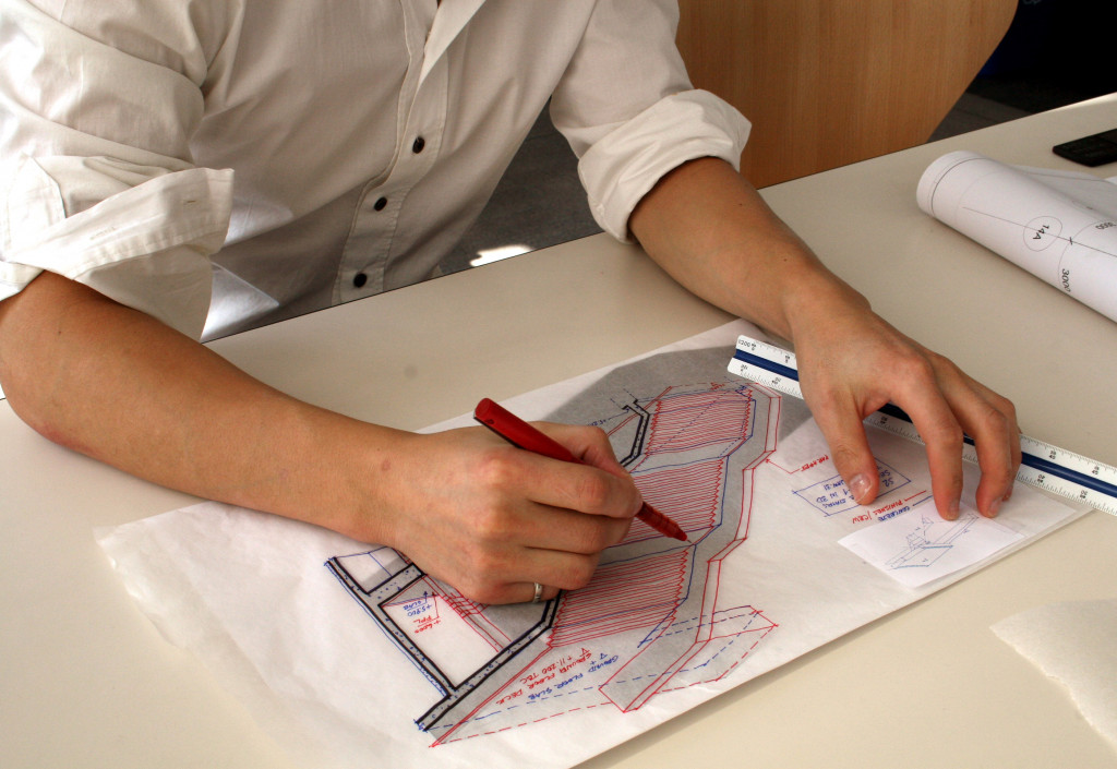 architect making a sketch
